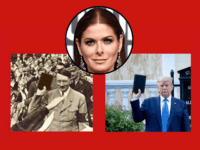 Debra Messing Tweets Fake Photo of Hitler Holding Bible Like Trump