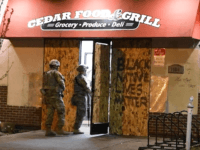 Minnesota National Guard Protects Essential Minneapolis Grocery Store