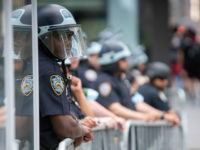 New York City Police Officers In Riot Gear Black Lives Matter Protests