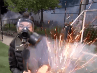 VIDEO: NBC Reporter Hit with Flash Bang Grenade During Broadcast