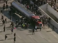 A law enforcement official said that the semi-truck caught on camera hurdling towards a group of protesters on I-35W in Minneapolis was likely an accident, according to a report.