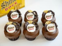 Shiner Bock beer cupcakes for Father's Day