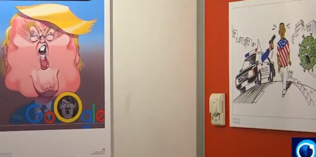 """TEL AVIV - The United States, its police and President Donald Trump are all depicted as Nazis or Ku Klux Klan members in a new art exhibition in Tehran called """"I Can't Breathe."""""""
