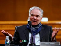 Sen. Tim Kaine, D-Va., speaks during a Senate Health Education Labor and Pensions Committee hearing on new coronavirus tests on Capitol Hill in Washington, Thursday, May 7, 2020. (AP Photo/Andrew Harnik, Pool)