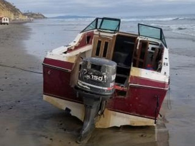 An exhaustive search and investigation led to the arrest of 15 people after this boat beached near San Diego. (Photo: U.S. Border Patrol/San Diego Sector)