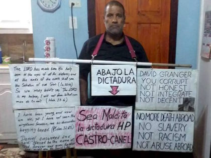 Stranded in Guyana, Harassed for Supporting Trump, Cuban Dissident Returns to Protest