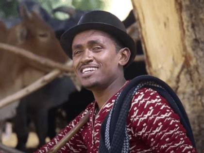 "Hachalu Hundessa in an image still from the video of his ballad ""Maalan Jira."""