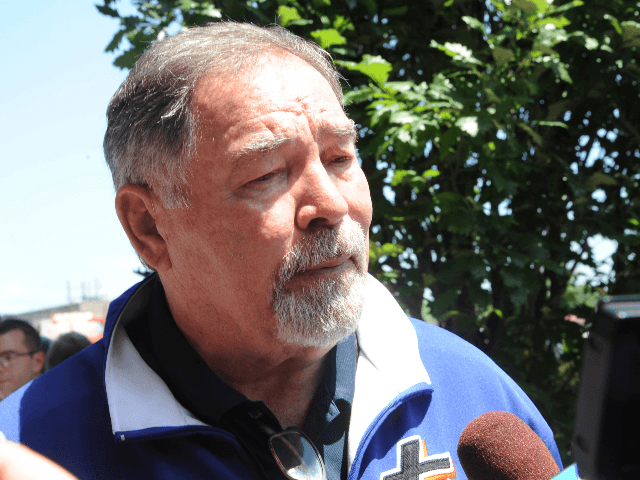 """Ron Swoboda at the """"Seaver Way"""" renaming ceremony in honor of Mets legend Tom Seaver a seven-block stretch outside Citi Field in Queens, New York City on June 27, 2019. Credit: George Napolitano/MediaPunch /IPX"""