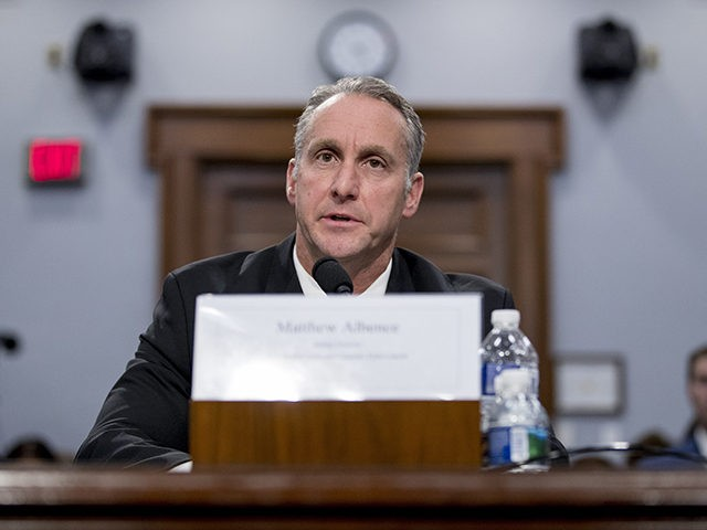 Immigration and Customs Enforcement Acting Director Matthew Albence speaks during a Homeland Security Subcommittee oversight hearing on Capitol Hill in Washington, Thursday, July 25, 2019. (AP Photo/Andrew Harnik)