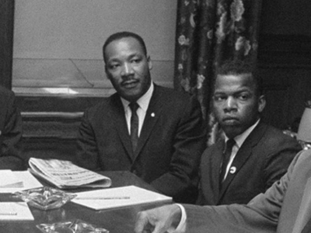 Leaders of the African American Movement pose in New York July 29 1964 as they hold conference on civil rights. From left are: Bayard Rustin: Jack Greeberg, director of counsel of the Naacp Educational and Legal Defense Fund; Whitney Young JR., director of the National Urban League; James Farmer, National …