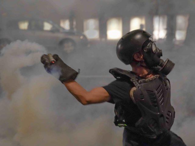 Anarchist tear gas Portland (Nathan Howard / Getty)