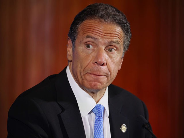 WASHINGTON, DC - MAY 2: New York Governor Andrew Cuomo holds a news conference at the National Press Club May 27, 2020 in Washington, DC. Following a closed-door meeting with President Donald Trump at the White House, Cuomo leveled criticism at Republican senators and other politicians that he said want …