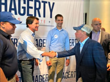 Bill Hagerty Shaking Hands, Tom Cotton Beside Him