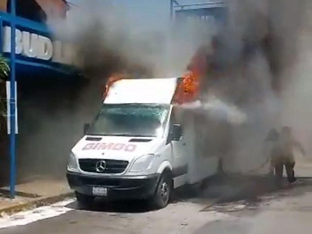 Bimbo Truck burned
