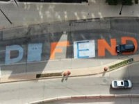 VIDEO: 'Defund the Police' Street Mural Changed to 'Defend the Police'