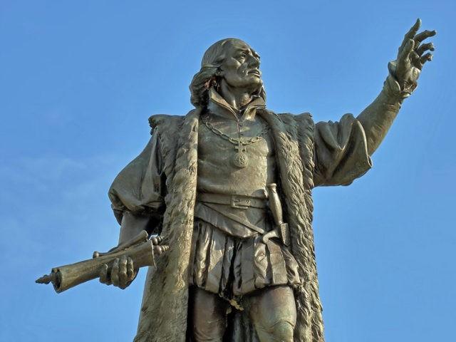 Christopher Columbus statue in Grant Park