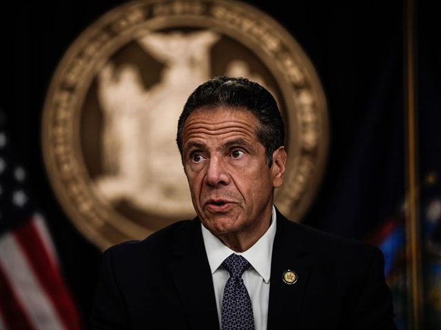 NEW YORK, NY - JULY 01: New York Gov. Andrew Cuomo speaks at a news conference on July 1, 2020 in New York City. The governor expressed alarm at Director of the National Institute for Allergy and Infectious Diseases Dr. Anthony Fauci's recent prediction that there could be 100,000 new …