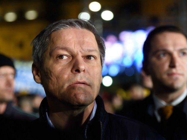 Romanian Prime Minister Dacian Ciolos attends a meeting of the National Liberal Party (PNL) in Bucharest, on November 6, 2016. Around 5,000 people take part in the first meeting of the electoral campaign during which PNL expresses their support for Dacian Ciolos as Prime Minister in the elections on December …