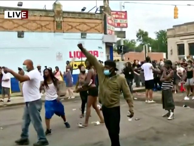 Detroit Protest Officer Involved Shooting