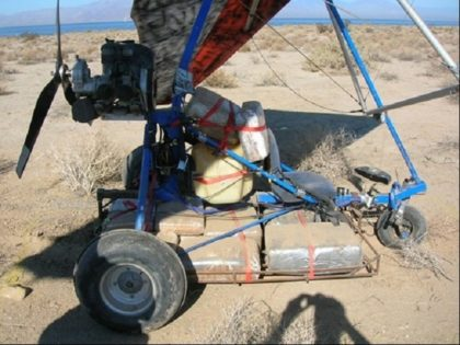 File photo of drug smuggling ultralight aircraft. (File Photo: U.S. Border Patrol/El Centro Sector)