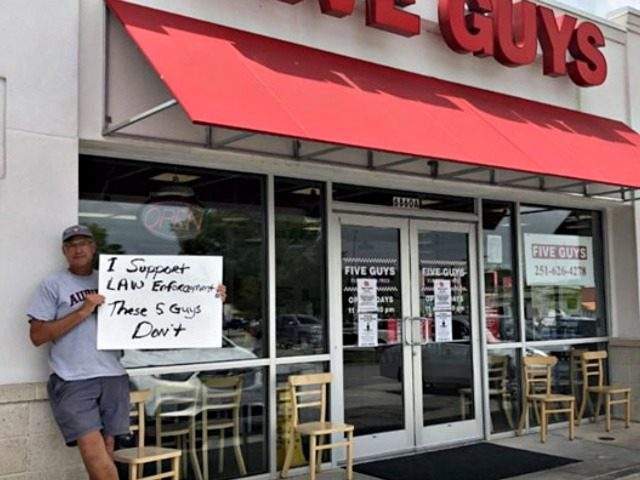Five Guys Refuses Service to Cops