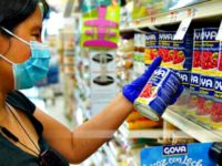 John Nacion/STAR MAX/IPx 2020 7/12/20 Products by Goya Foods Company seen on shelves of Stop&Shop supermarket in the Queens as company boycott takes off after Robert Unanue, CEO of Goya Foods, appeared in the White House Rose Garden and praised President Donald Trump. Hashtag #Goyaway is trending on social media …