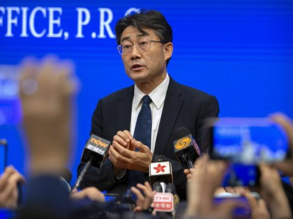 Gao Fu, the head of the Chinese Center for Disease Control and Prevention (China CDC), speaks to journalists after a press conference at the State Council Information Office in Beijing on Jan. 26, 2020. Gao has revealed Tuesday, July 28, 2020 he has been injected with an experimental coronavirus vaccine …