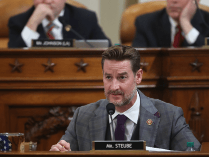 Representative Greg Steube, Republican of Florida, participates in the House Judiciary Committee hearing as part of the impeachment inquiry into US President Donald Trump on Capitol Hill in Washington, DC on December 9, 2019. - The next phase of impeachment begun December 4 in the US Congress, as lawmakers weigh …