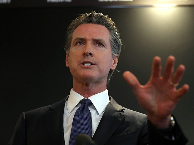 SACRAMENTO, CALIFORNIA - FEBRUARY 27: California Gov. Gavin Newsom speaks during a news conference at the California Department of Public Health on February 27, 2020 in Sacramento, California. California Gov. Gavin Newsom joined State health officials to an update to the public about the state's response to the Coronavirus known …