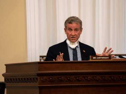 Rep. Matt Cartwright (D-PA) speaks at a hearing with the Subcommittee on Military Construction, Veterans Affairs, and Related Agencies on Capitol Hill in Washington DC, on May 28th, 2020. (Photo by Anna Moneymaker / POOL / AFP) (Photo by ANNA MONEYMAKER/POOL/AFP via Getty Images)