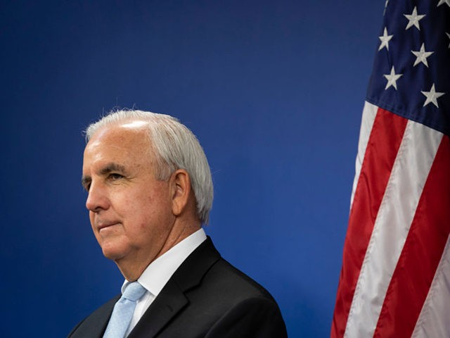 MIAMI, FL - JUNE 08: Carlos A. Gimenez, Mayor of Miami-Dade County, is seen during a press conference relating hurricane season updates at the Miami-Dade Emergency Operations Center on June 8, 2020 in Miami, Florida. NOAA has predicted that this year's Atlantic hurricane season will be more active than usual …