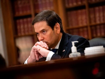 Senator Marco Rubio, a Republican from Florida and chairman of the Senate Small Business and Entrepreneurship Committee, listens during the Senate Small Business and Entrepreneurship Hearings to examine implementation of Title I of the CARES Act on Capitol Hill in Washington, DC on June 10, 2020. (Photo by Al Drago …