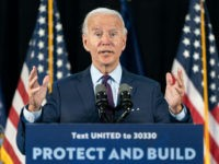 LANCASTER, PA - JUNE 25: Democratic presidential candidate former Vice President Joe Biden speaks during an event about affordable healthcare at the Lancaster Recreation Center on June 25, 2020 in Lancaster, Pennsylvania. Biden met with families who have benefited from the Affordable Care Act and made remarks on his plan …