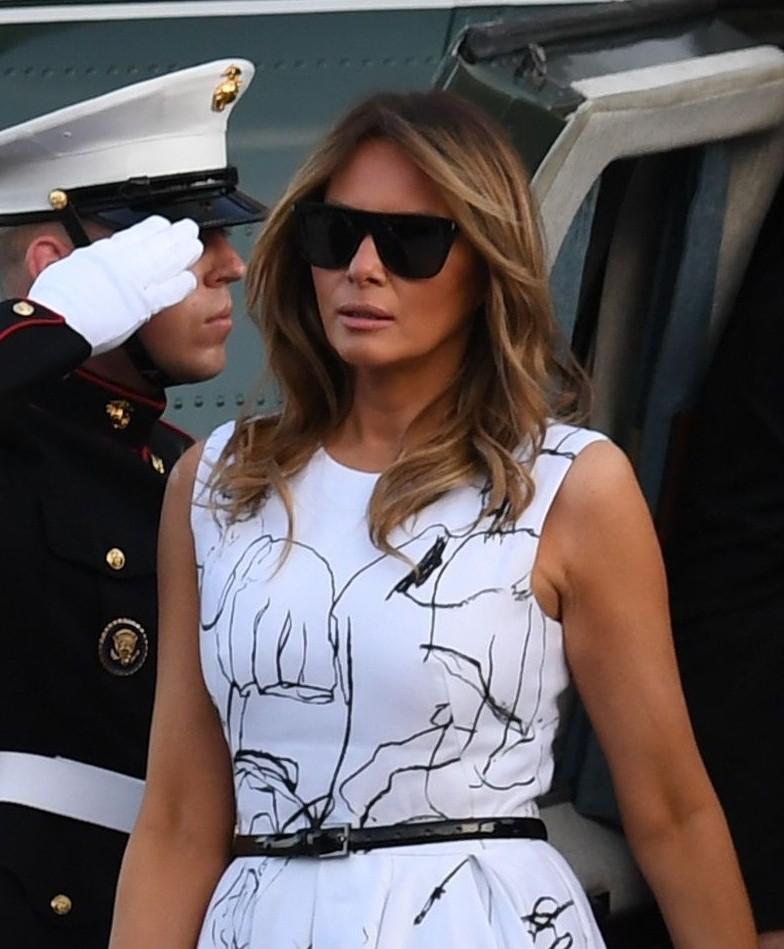 Social Media Users Poked Fun At Melania Trump Over Her Designer Dress