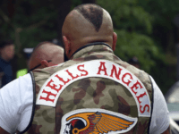 Members of the Hells Angels motorcycle club arrive for the Hells Angels' World Run 2016 gathering on June 3, 2016 in Rynia near Warsaw. More than a thousand Hells Angels members from all over Europe and beyond arrived to the resort on the Zegrze lagoon for some days rally. / …