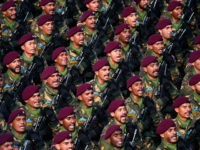 Indian Army's Parachute Regiment soldiers march along Rajpath during the Republic Day parade in New Delhi on January 26, 2020. - Huge crowds gathered for India's Republic Day parade on January 26, with women taking centre-stage at the annual pomp-filled spectacle of military might featuring army tanks, horses and camels. …