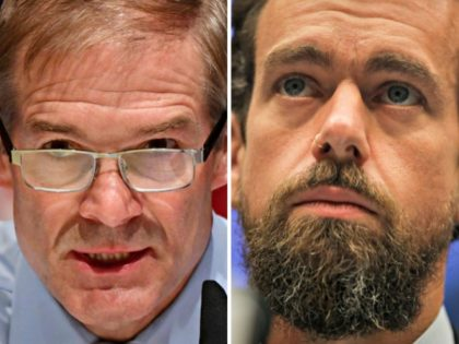 Jim Jordan, Jack Dorsey Getty Images:Kevin Dietsch, Drew Angerer