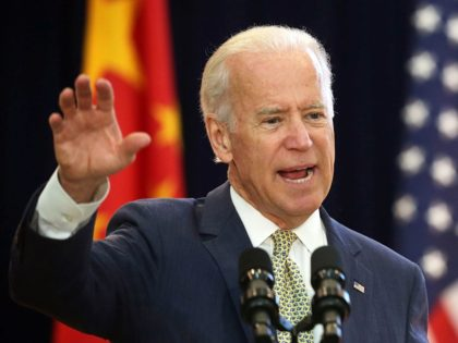 Joe Biden China flag (Alex Wong / Getty)