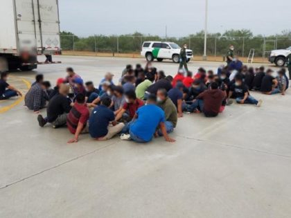 Laredo North Station Border Patrol agents find 66 illegal aliens in a tractor-trailer rig at the Interstate 35 immigration checkpoint on June 29. (Photo: U.S. Border Patrol/Laredo Sector)