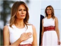 Fashion Notes: Melania Trump Salutes America in Vintage 1992 Azzedine Alaïa