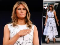 Fashion Notes: Melania Trump Wears Off-the-Runway Alexander McQueen at Mount Rushmore