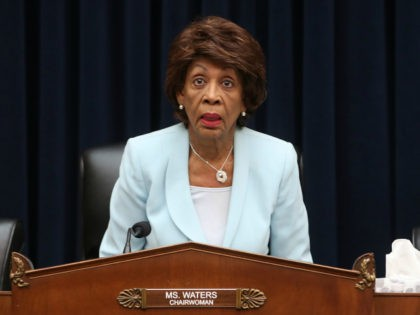 Chairwomen Maxine Waters (D-CA) questions Treasury Secretary Steven Mnuchin, during a House Financial Services Committee hearing on Capitol Hill May 22, 2019 in Washington, DC. The committee heard testimony from the Secretary on the State of the International Financial System, and President Donald Trump's tax returns. (Photo by Mark Wilson/Getty …