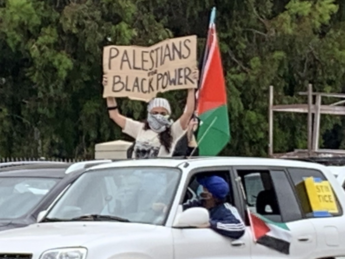 Palestinians for Black Power Sovereigty Protest 3 (Joel Pollak / Breitbart News)