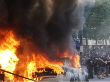 Police Car Burning, Riot