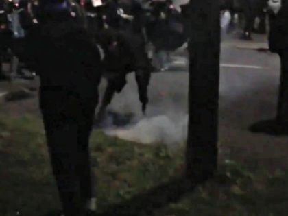 Police Respond to Riot in Portland as Protesters Throw 'Baseball Sized' Rocks at Cops, Set Fires Near Precinct