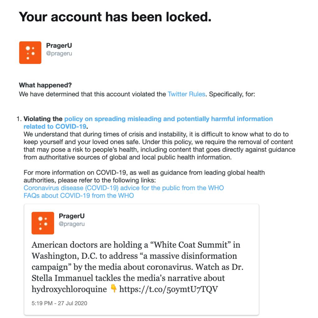 PragerU locked Twitter
