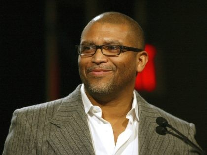 PASADENA, CA - JANUARY 10: Reginald Hudlin, president of entertainment of the BET Network speaks during the Television Critics Winter Press Tour panel discussion at the Ritz Carlton Hotel on January 10, 2006 in Pasadena, California. (Photo by Frederick M. Brown/Getty Images).