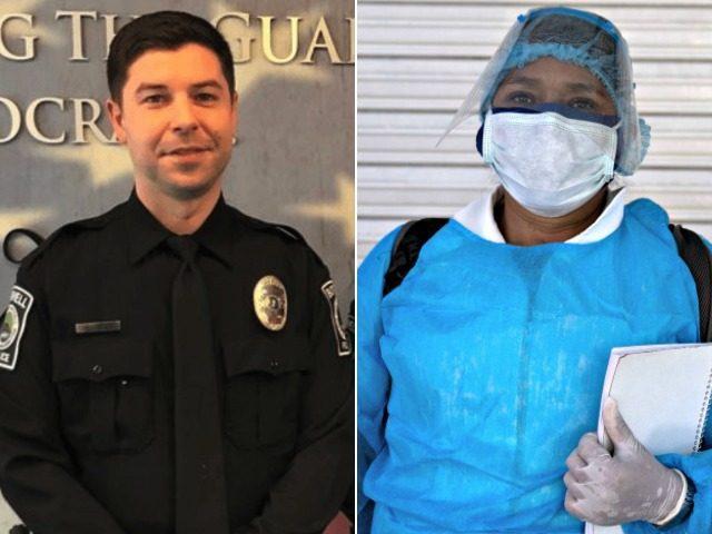 Slain Officer Jonathan Shoop and a Nurse