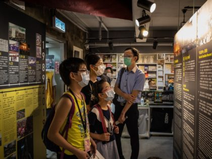 HONG KONG, CHINA - MAY 20: Visitors look at items on display at the June 4 Museum, dedicated to the 1989 Tiananmen Square crackdown on May 20, 2020 in Hong Kong, China. (Photo by Billy H.C. Kwok/Getty Images)