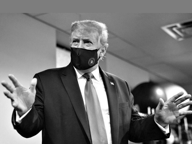 Trump Wearing a Mask in Twitter Photo